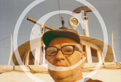 In 1990 I acquired the Howard G. Weis Collection of old Great Lakes vessel photographs upon the passing of this well-known freighter photographer between the 1960's and early 1980's.  This is a self-portrait photo Howard took.  He was aboard the Eugene Pargny at the time.