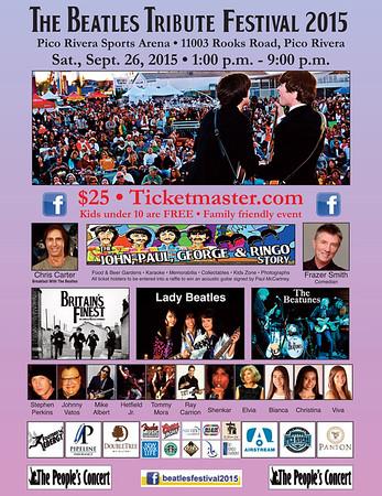THE BEATLES TRIBUTE FESTIVAL 2015 @ PICO RIVERA SPORTS ARENA • 09.26.15