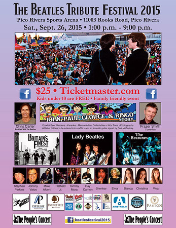 THE BEATLES TRIBUTE FESTIVAL 2015 @ PICO RIVERA SPORTS ARENA • 09.26.15