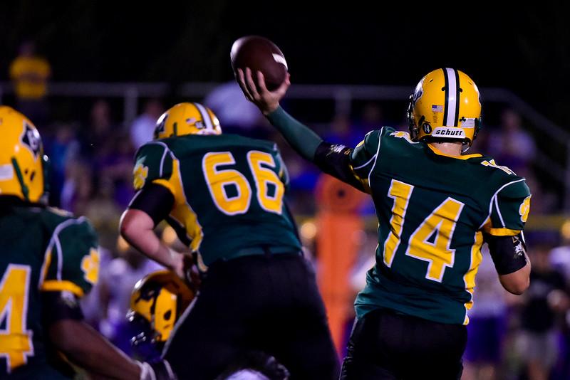 Logan Jackson (14) of Bunn Wildcats. Corinth Holders defeats Bunn Wildcats  61-27  Friday evening September 12, 2014 in Bunn NC (Photos by Anthony Barham / WRAL contributor.)