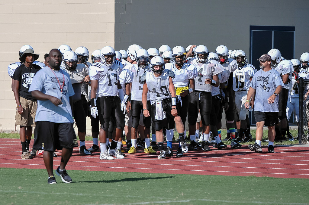 Rocky Mount High host the 2014 Football Jamboree, participating teams are Rocky Mount, Northern Nash, Southern Nash, Nash Central, Knightdale, SE Halifax, Bertie,  on Thursday evening August 14, 2014. Photos by Anthony Barham
