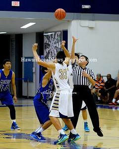 12-12-14 MoHS Boys Basketball 2014 Pre-Season vs Punahou. (42-53). OIA-ILH Challenge Video:  http://youtu.be/xosYFYn15dg
