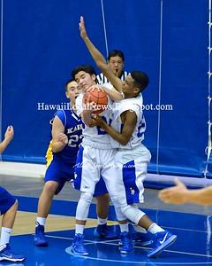 12-16-14 Moanalua Na Menehune JV Boys Basketball 2014 Pre-Season vs Kaiser Cougars (57-38)
