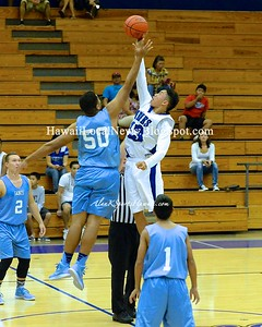 12-19-14 Moanalua Varsity Boys Basketball vs St. Frances (47-24).