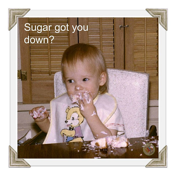 """""""Krissy's"""" first birthday celebration!  But we don't do SUGAR like that anymore!  Kris can help guide you away from this dangerous addiction . . . and still direct you to healthy happy birthday cakes!"""