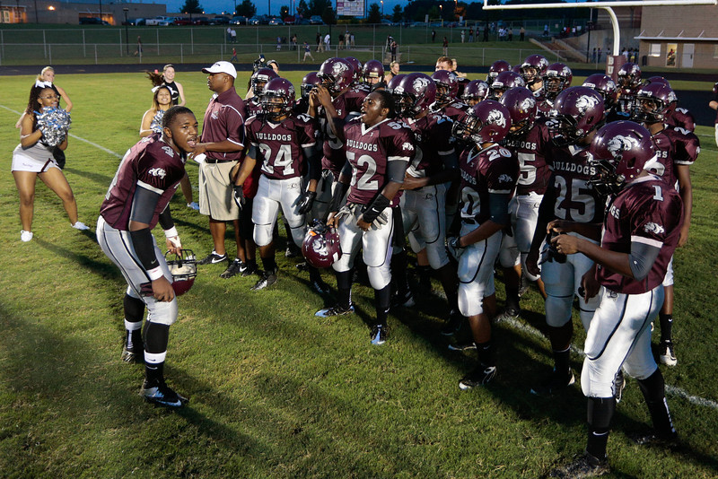 Nash Central get ready to take the field for tonights game.Tarboro Vikings defeat Nash Central Friday Night Aug, 23 2013. (Photo By Anthony Barham)