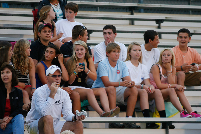 Nash Central fans  during tonights game. Tarboro Vikings defeat Nash Central Friday Night Aug, 23 2013. (Photo By Anthony Barham)