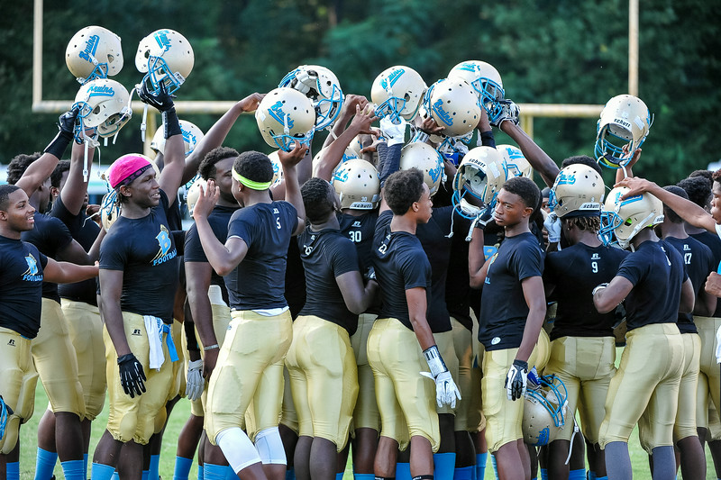 Beddingfield gets ready for tonights game .Beddingfield defeats Southern Nash 19-7 on Thursday night August 28, 2014 in Wilson NC (Photos By Anthony Barham)