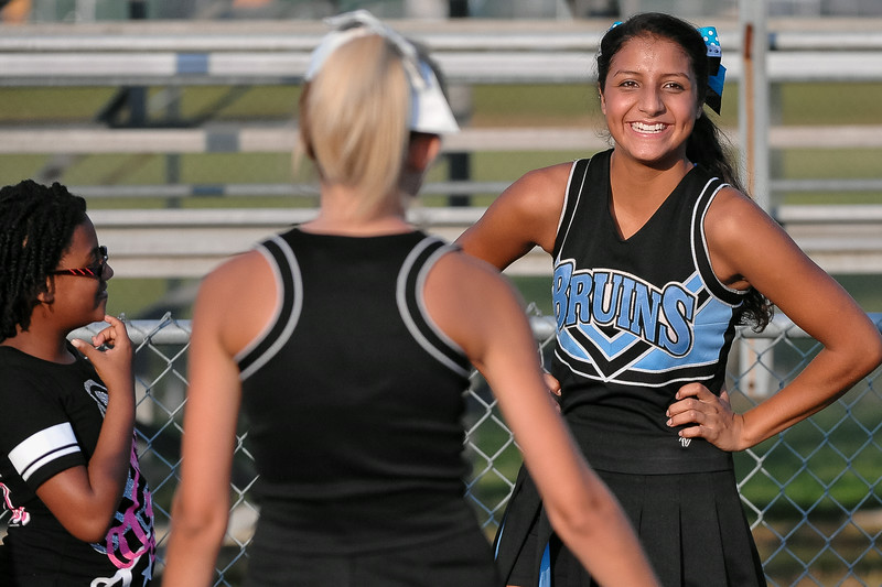 Beddingfield cheerleaders before tonights game .Beddingfield defeats Southern Nash 19-7 on Thursday night August 28, 2014 in Wilson NC (Photos By Anthony Barham)