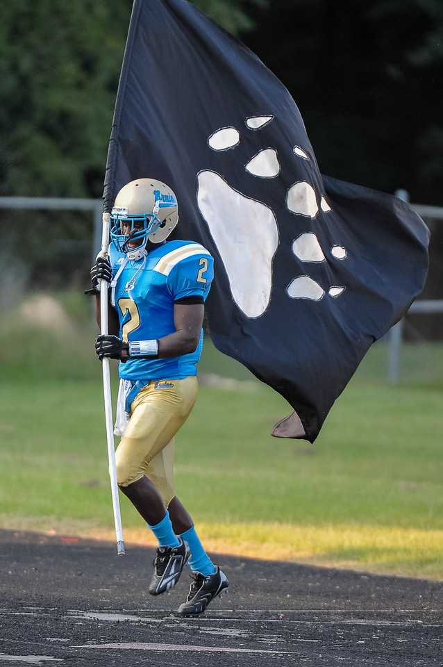 Beddingfield Demonte Cherry #2 during  tonights game .Beddingfield defeats Southern Nash 19-7 on Thursday night August 28, 2014 in Wilson NC (Photos By Anthony Barham)