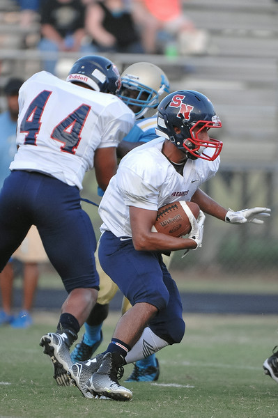 Southern Nash Ismael Rodriquez #3 during tonights game. Beddingfield defeats Southern Nash 19-7 on Thursday night August 28, 2014 in Wilson NC (Photos By Anthony Barham)