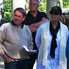 Saturday, 23/11 - day 2: Kevin, Neal & Noellene at Apex Park, Wangaratta