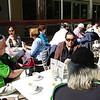 Saturday, 23/11 - day 2: Greg Jordon (left) enjoys morning tea at Bright