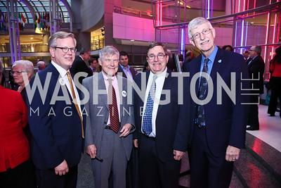Ted Thompson, Mort Kondracke, Rep. Michael Burgess, Francis Collins. Photo by Tony Powell. 2015 Morris K. Udall Awards Dinner. Reagan Building. October 1, 2015
