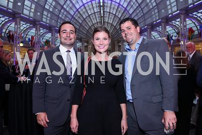 Jeff Strunk, Georgia Gann, Britt Beabout. Photo by Tony Powell. 2015 Morris K. Udall Awards Dinner. Reagan Building. October 1, 2015