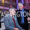 Mort Kondracke, Francis Collins. Photo by Tony Powell. 2015 Morris K. Udall Awards Dinner. Reagan Building. October 1, 2015