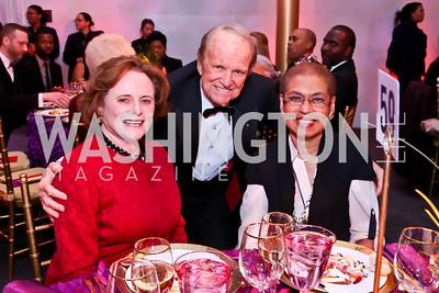 Elizabeth Stevens and George Stevens Jr, Rep. Eleanor Holmes Norton. Photo by Tony Powell. 2015 Alvin Ailey Gala. Kennedy Center. February 3, 2015