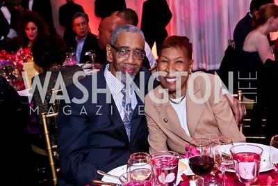 Rep. Bobby Rush and Carolyn Rush. Photo by Tony Powell. 2015 Alvin Ailey Gala. Kennedy Center. February 3, 2015