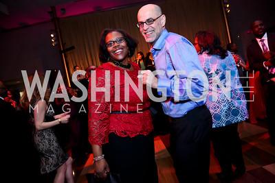 Chancellor of DC Public Schools Kaya Henderson, Robert Raben. Photo by Tony Powell. 2015 Alvin Ailey Gala. Kennedy Center. February 3, 2015