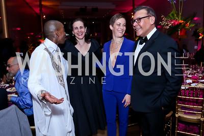 AAADT dancer Renaldo Maurice, Karen Anderson, AAADT dancer Elisa Clark, Felix Sanchez. Photo by Tony Powell. 2015 Alvin Ailey Gala. Kennedy Center. February 3, 2015