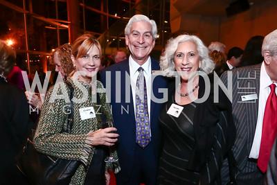 Nina Benton, David and Peggy Shiffrin. Photo by Tony Powell. 2015 American Voice Award. Arena Stage. November 12, 2015