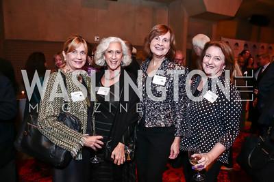 Nina Benton, Peggy Shiffrin, Joanne Barker, Judy Kovler. Photo by Tony Powell. 2015 American Voice Award. Arena Stage. November 12, 2015