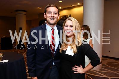 Luke Russert, Olivia Petersen. Photo by Tony Powell. BGCGW Tim Russert Congressional Dinner. May 13, 2015