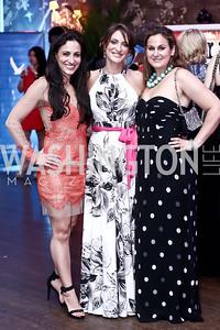 Asha Mevlana, Linden van Roijen, Sarah Pauley. Photo by Tony Powell. 2015 Bachelors and Spinsters Ball. City Tavern Club. April 18, 2015