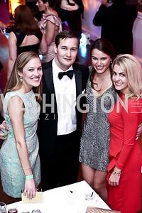 Sara Bailey, Chris Hunt, Elizabeth Stinson, Anna Yanker. Photo by Tony Powell. 2015 Bachelors and Spinsters Ball. City Tavern Club. April 18, 2015