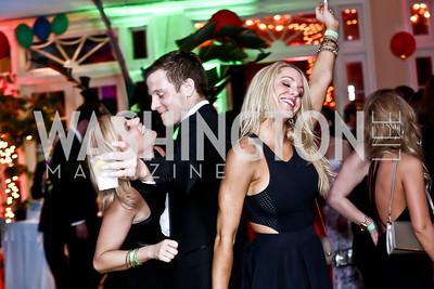 LaRhonda Burley, Darin Guries, Ashley Stanwick. Photo by Tony Powell. 2015 Bachelors and Spinsters Ball. City Tavern Club. April 18, 2015