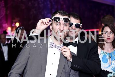 Lukas Zajac, Josh Simon. Photo by Tony Powell. 2015 Bachelors and Spinsters Ball. City Tavern Club. April 18, 2015