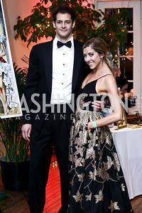Andrew Peek, Sarah Deutschmann. Photo by Tony Powell. 2015 Bachelors and Spinsters Ball. City Tavern Club. April 18, 2015