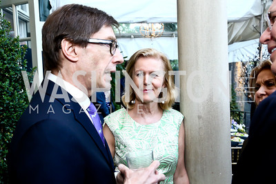 Germany Amb. Peter Wittig, Ireland Amb. Anne Anderson. Photo by Tony Powell. 2015 Bradley WHCD Welcome Dinner. April 24, 2015
