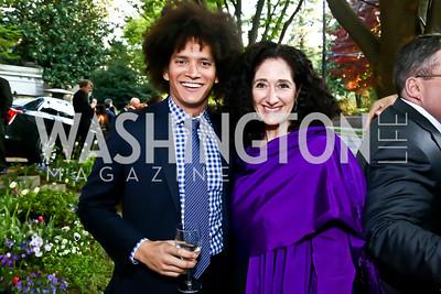 Charleton Gholson, Dafna Tapiero. Photo by Tony Powell. 2015 Bradley WHCD Welcome Dinner. April 24, 2015