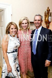 Katie Couric, Katherine Bradley, John Molner. Photo by Tony Powell. 2015 Bradley WHCD Welcome Dinner. April 24, 2015