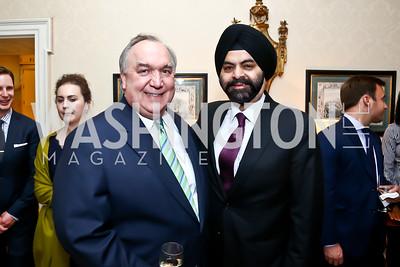 John Engler, MasterCard President and CEO Ajay Banga. Photo by Tony Powell. 2015 Bradley WHCD Welcome Dinner. April 24, 2015