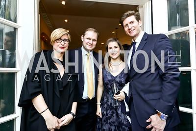 Bridget Russo, Paul Wood, Ruth Sherlock, Daniel Gottlieb. Photo by Tony Powell. 2015 Bradley WHCD Welcome Dinner. April 24, 2015