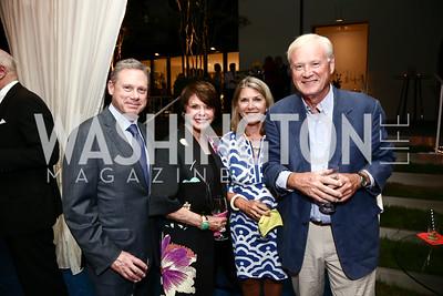 Wayne Reynolds, Marlene Malek, Kathleen Matthews, Chris Matthews. Photo by Tony Powell. Cafritz Welcome Back from Summer. September 5, 2015