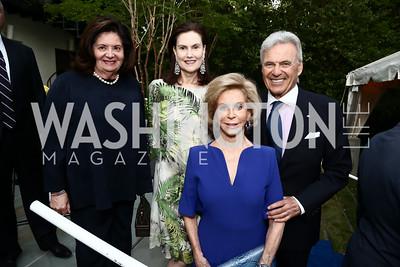 Nancy Howar, Alexandra de Borchgrave, Wilma and Stuart Bernstein. Photo by Tony Powell. Cafritz Welcome Back from Summer. September 5, 2015
