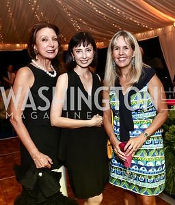 Aniko Gaal Schott, Melissa Chiu, Isabel Ernst. Photo by Tony Powell. Cafritz Welcome Back from Summer. September 5, 2015