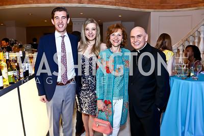 Juan Pablo Segura, Florencia Segura, Alejandra Segura, Bishop Mario Dorsonville. Photo by Tony Powell. 2015 Música y Sueños. Women's Museum. May 29, 2015