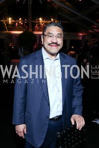 Bob Hisaoka. Photo by Tony Powell. 2015 CharityWorks 100 Point Wine Dinner. Leonsis Residence. April 25, 2015