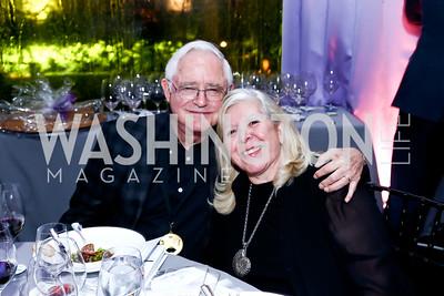 Jack Gansler, Leah Gansler. Photo by Tony Powell. 2015 CharityWorks 100 Point Wine Dinner. Leonsis Residence. April 25, 2015