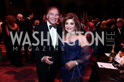 Leo Sahakian, Annie Totah. Photo by Tony Powell. 2015 CharityWorks Dream Ball. Building Museum. September 26, 2015