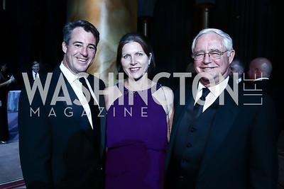 Doug and Laura Gansler, Jack Gansler. Photo by Tony Powell. 2015 CharityWorks Dream Ball. Building Museum. September 26, 2015