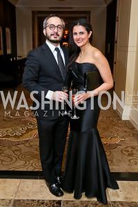 Amir Afkhami and Hastie Afkhami. Photo by Tony Powell. 2015 DC Heart Ball. Mandarin Oriental. February 28, 2015