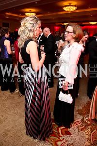 Kirsten Baier, Gini Woelflein. Photo by Tony Powell. 2015 DC Heart Ball. Mandarin Oriental. February 28, 2015