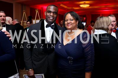 Dr. Clayton Lawrence, Former US Surgeon General Regina Benjamin. Photo by Tony Powell. 2015 DC Heart Ball. Mandarin Oriental. February 28, 2015