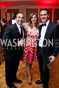 David Cohen, Suzanne and Brian Pirko. Photo by Tony Powell. 2015 DC Heart Ball. Mandarin Oriental. February 28, 2015
