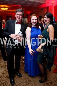 Ted and Brenda Segal, Anastasia Mischenko. Photo by Tony Powell. 2015 DC Heart Ball. Mandarin Oriental. February 28, 2015